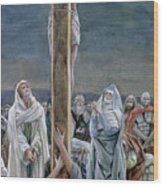 Woman Behold Thy Son Wood Print by Tissot