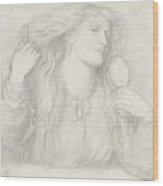 Woman Combing Her Hair, Fanny Cornforth Wood Print