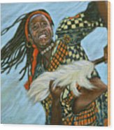 Woman Dancing Wood Print