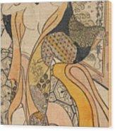 Woman Disrobing Wood Print