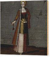 Woman From Tinos Wood Print