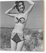 Woman In Bikini, C.1950s Wood Print