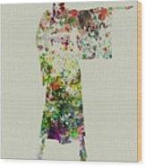 Woman In Kimono Wood Print