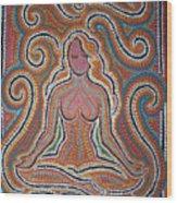 Woman In Meditative Bliss Wood Print