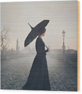 Woman In Mourning Wood Print