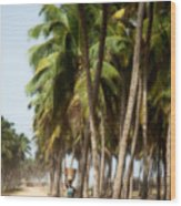 Woman In Ouidah I Wood Print