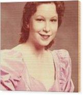 Woman In Pink Wood Print