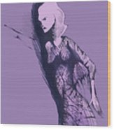 Woman In Shadows Wood Print