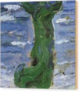 Woman In The Wind By The Sea 1907 Wood Print