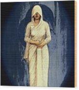 Woman In White - Widow Wood Print