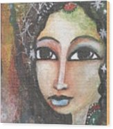 Woman - Indian Wood Print