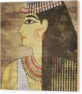 Woman Of Ancient Egypt Wood Print