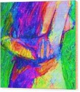 Woman Of Earth Wood Print