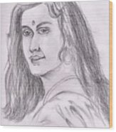 Woman Of India Wood Print