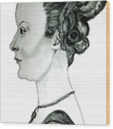 Woman Of Nobility Wood Print