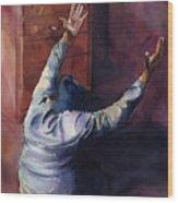 Woman Of Praise Wood Print by Lewis Bowman