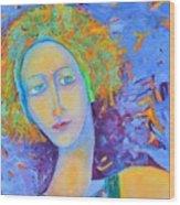 Woman Oil Portrait  Wood Print