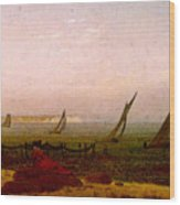 Woman On The Beach Of Rugen  Wood Print