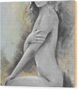 Woman Painted Wood Print