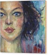 Woman  Portrait 2 Wood Print