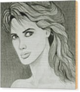 Woman Portrait Wood Print