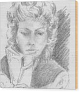 Woman Reading A Book Wood Print
