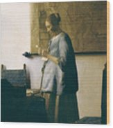 Woman Reading A Letter Wood Print