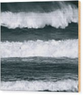 Woman Surfer Wood Print