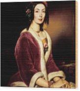 Woman Wearing A Velvet Pelisse  Wood Print