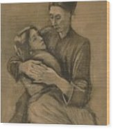 Woman With A Child On Her Lap The Hague, March 1883 Vincent Van Gogh 1853 - 1890 Wood Print