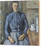 Woman With A Coffeepot  Wood Print