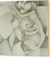 Woman With A Pitcher Wood Print by Dagmara Czarnota