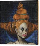 Woman With Big Hair Wood Print