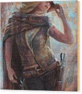 Woman With No Name Wood Print