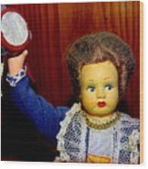 Woman With Tambourine Wood Print