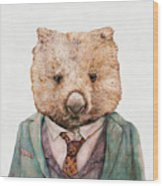 Wombat Wood Print