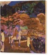 Women And White Horse 1903 Wood Print