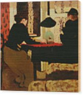 Women By Lamplight Wood Print