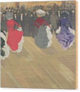 Women Dancing The Can Can Wood Print