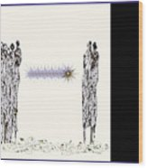 Women Chanting - Women Empowering Women Wood Print
