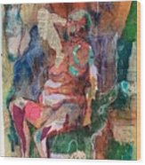 Women In Thought Wood Print
