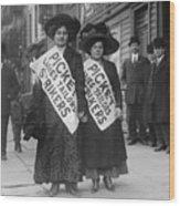 Women Strike Pickets From Ladies Wood Print by Everett