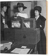 Women Voting, C1917 Wood Print