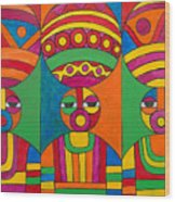Women With Calabashes Wood Print