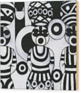 Women With Calabashes IIi Wood Print