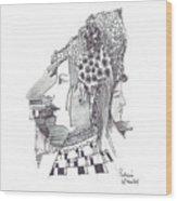 Women With Headgear Wood Print