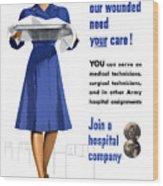 Women's Army Corps - Ww2 Wood Print