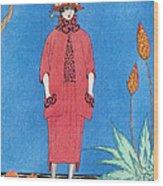 Womens Fashion, George Barbier, 1921 Wood Print