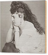 Womens Hairstyle Wood Print