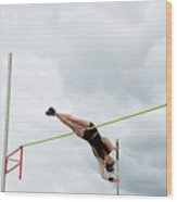 Womens Pole Vault 3 Wood Print